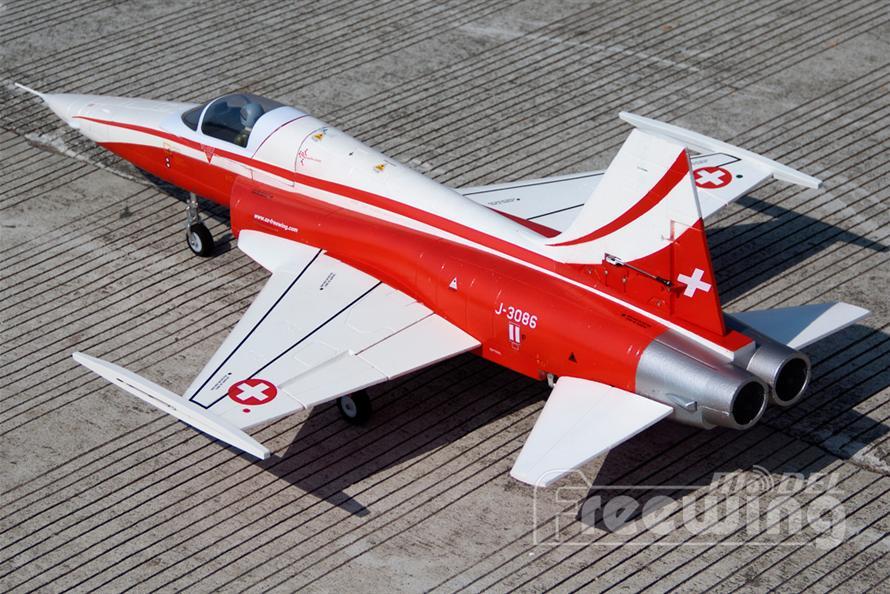 Freewing F-5 Tiger II Swiss 80mm EDF Jet PNP RC Airplane [FW