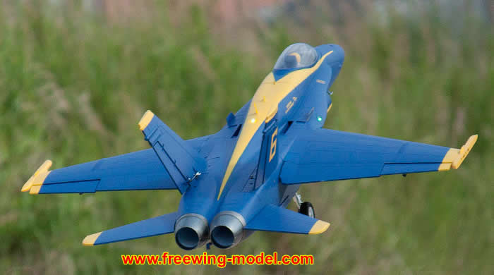 >Freewing F/A-18C Hornet Blue Angels 90mm EDF Jet PNP RC Airplane