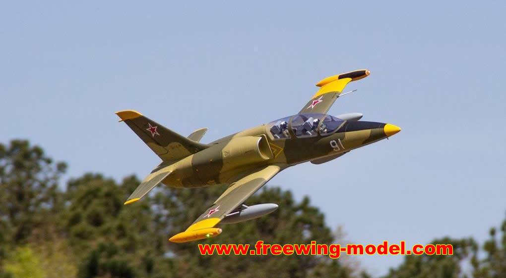Freewing L-39 Albatros Camo 80mm EDF Jet ARF PLUS Servo RC airplane