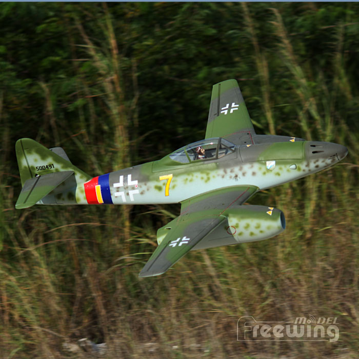 Freewing Twin EDF Messerschmitt Me-262 Yellow 7 V2 Jet