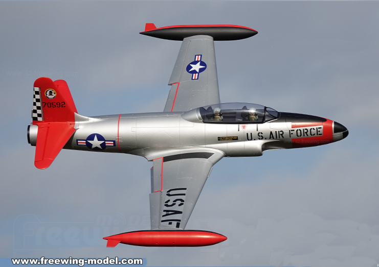 Freewing T-33 Shooting Star USAF 80mm EDF Jet PNP RC Airplane