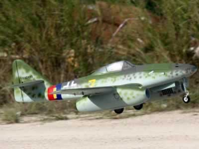 "Freewing Twin EDF Messerschmitt Me-262 ""Yellow 7"" V2 Jet RC airplane"