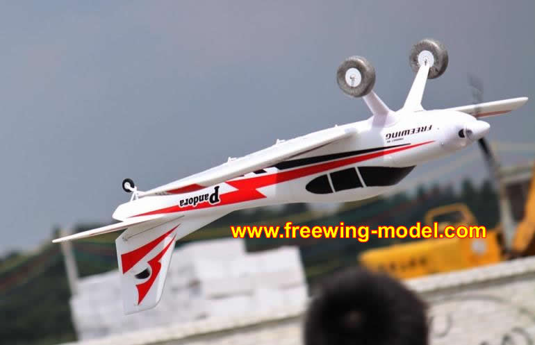 Freewing Pandora 4in1 Red 1400mm (55 inch) Wingspan Trainer PNP Rc Airplane