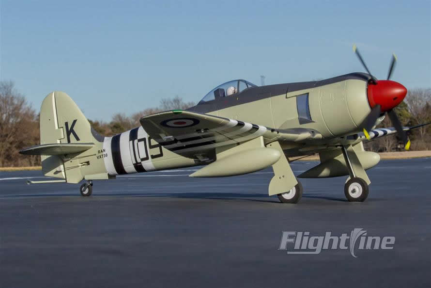 FlightLine RC Hawker Sea Fury 1200mm Wingspan PNP RC Airplane