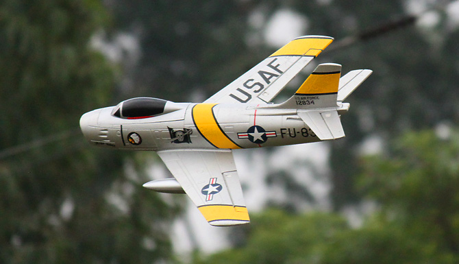 64mm Freewing F-86 Sabre Jolley Roger PNP  RC Airplane