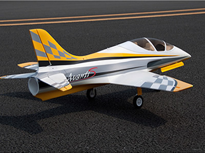 Freewing yellow Avanti S 80mm EDF Ultimate Sport Jet-PNP RC airplane