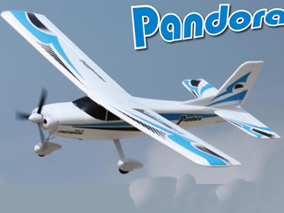 "Freewing Pandora 4-in-1 Blue 1400mm (55"") Wingspan Trainer PNP RC Airplane"